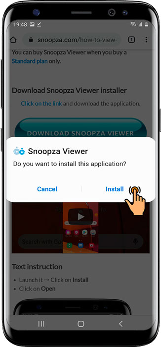 Installing Snoopza Viewer